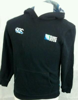 "Canterbury Rugby World Cup 2015 Hoodie. 18"" pit-to-pit, 24"" length, Age 14 years"