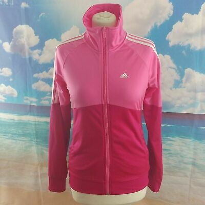 Adidas pink full zip Tracksuit Jacket. Children's age 13, age 14