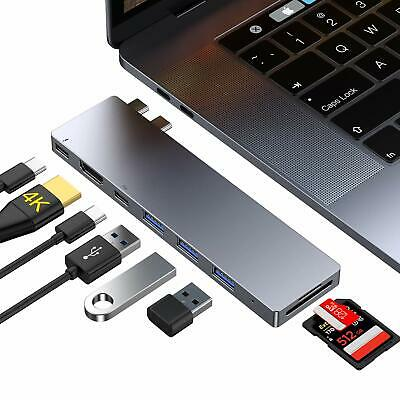 USB Typ C Thunderbolt Multihub Adapter 3x USB 3.0 4K HDMI SD PD Macbook Pro Air