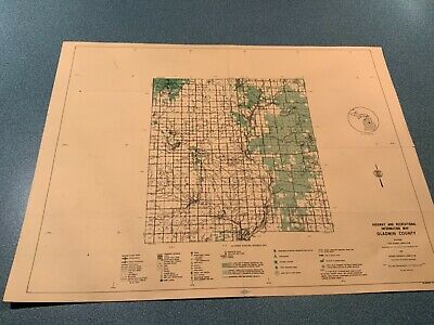 Vintage: 1974 Gladwin County Michigan DNR Highway & Recreation Information Map