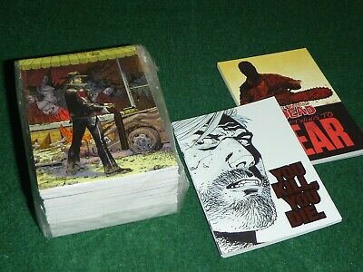 Complete 72 Parallel 18 Sub Mini Master Trading Card Set The WALKING DEAD Comic