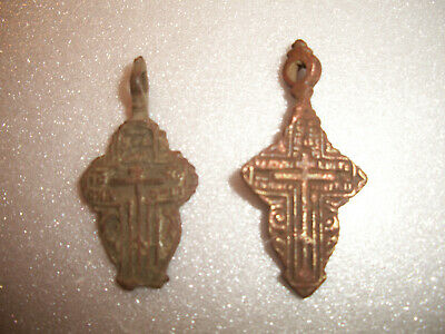 Estate Sale - 2x Authentic Ancient Cross Pendant 16-18th Century !