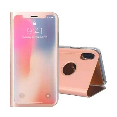 NEW ROSE GOLD Luxury Smart Mirror View Flip Stand Case Cover for Apple iPhone