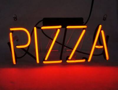Pizza Restaurant Open Food Neon Sign Lamp Light Acrylic Beer Bar With Dimmer