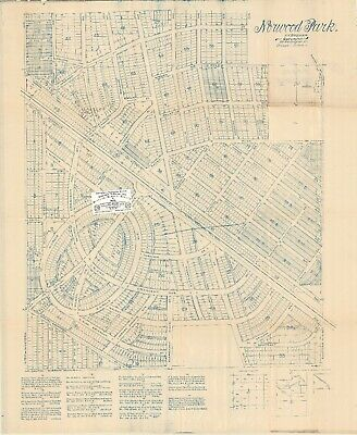 Chicago Antique 1897 Map Of Norwood Park With 20 Subdivisions Shown