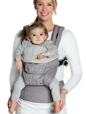 NEW Lillebaby complete Embossed Luxe baby carrier MICROSUEDE pewter NIB grey