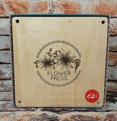 Brand New Sealed IS Gift Classic Wooden Flower Press Small