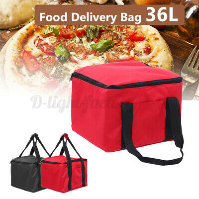 36L Food Delivery Bag Pizza Insulated Foil Oxford Storage Heat Cold Portable.