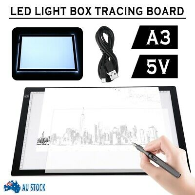 NEW A3 LED Art Tattoo Stencil Board Light Tracing Drawing Pad Table Box Dimmable