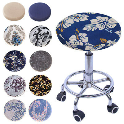 Round Swivel Chair Bar Stool Covers Case Seat Cover Cushions Sleeve Protector