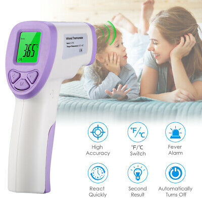 No-contact Touch IR Infrared Digital LCD Baby Adult Forehead Body Thermometer