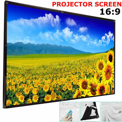 """16:9 Wall Ceiling HD Projector 120"""" Screen Home Theater 3D 4K Film Screen Soft"""