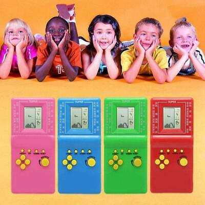 Retro Tetris Game Toy Kids Game Console Classic Hand Held LCD Games Random Color