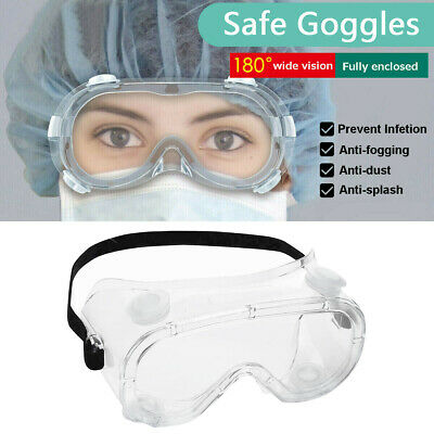 6PC Protective Glasses Anti Dust Fog Wind Safety Goggles Work Lab Eye Protection