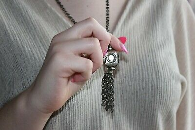 Antique Rare Ottoman Necklace Turkish Amulet Islamic Muska Pendant Chain Silver
