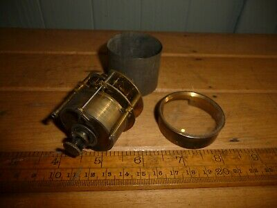 Antique Clock Movement - small round movement with rear winder - spares / repair