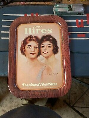 Vintage Hires Root Beer Advertising Serving Trays Lithographed USA Haskell