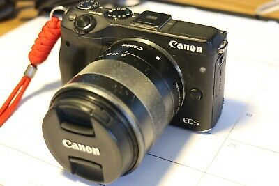 Canon EOS M3 24.0MP Digital Camera - Black &18-55mm EF-M IS STM Lens