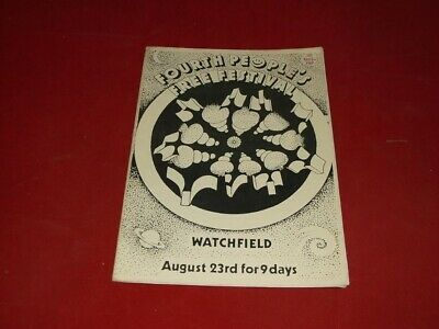 1989  Watchfield Free Festival   Rare  A5   Booklet