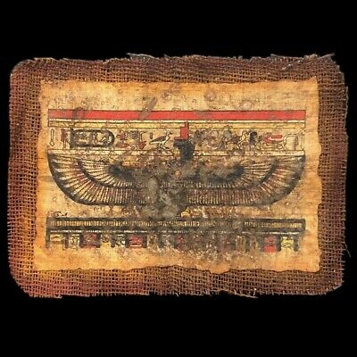 Ancient Egyptian Hand Painted Papyrus Paper. 664-332 Bc (3)