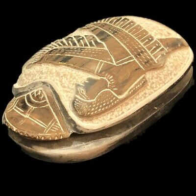 BEAUTIFUL ANCIENT EGYPTIAN SCARAB 300 BC (6) LARGE OVER 11.6 Cm !!!!