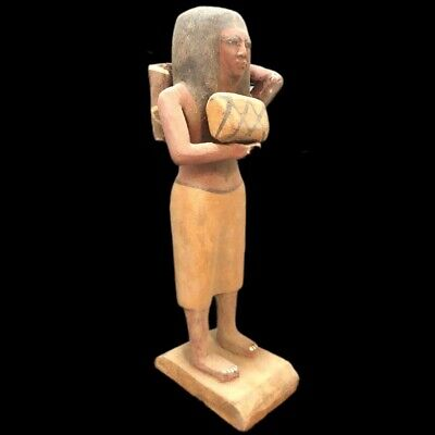Beautiful Ancient Egyptian Wooden Statue 300 Bc (2) Large !!!!!
