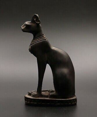 ANCIENT EGYPT EGYPTIAN BASTET Antiques GODS CAT Ubasti PHARAOH STONE BC