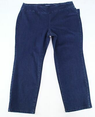 Charter Club Women's Blue Size 20W Plus Slim Leg Pull On Pants Stretch $69 #012