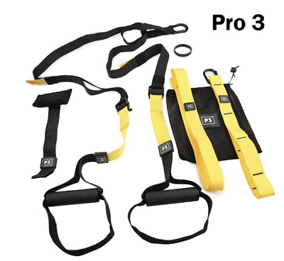 PRO Body Trainer Suspension Straps Home Gym Fitness pull up curls dips Fits trx