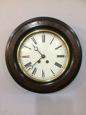 French Wall Clock 8 Day 19th Century
