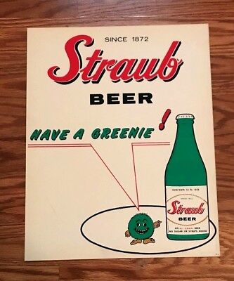 (Vintage) Straub Beer - Brewing Co Advertising Sign Saint -  St. Marys Pa