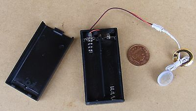 LED Light AA Battery Holder Power Supply With On Off Switch Tumdee Dolls House