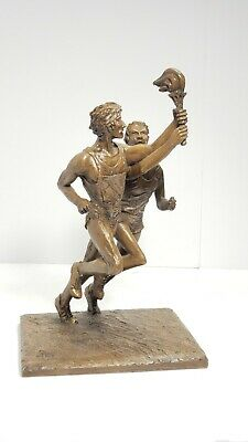 Bronze statue of Olympic runners