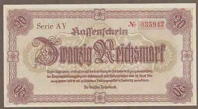 1945 Germany 20 Reichsmark Note Unc