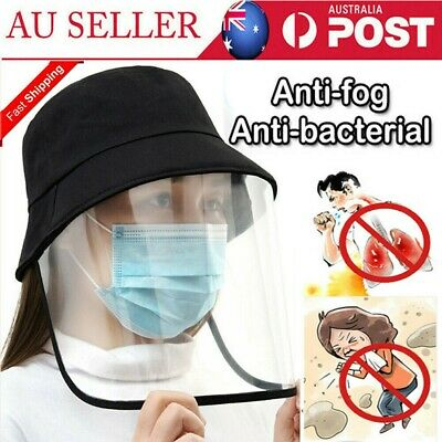 Fisherman Cap With Protective Clear Mask Saliva-proof Dust-proof Sun Visor Hat