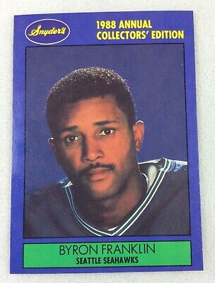 NFL 1988 Snyder's Seattle Seahawks Football Card - Byron Franklin (Auburn)