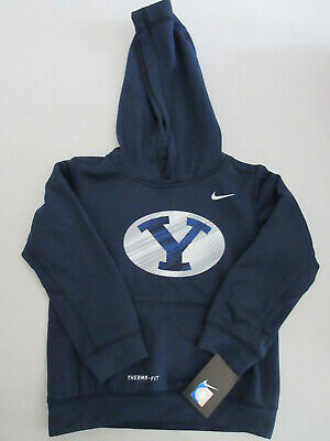 Brigham Young University Nike Boys Girls Therma-Fit Hoodie Size 6 BRAND NEW
