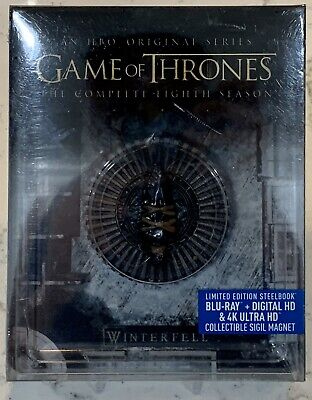 Game Of Thrones Complete Eighth Season Blu-Ray + Digital HD & 4K Ultra W/ Magnet
