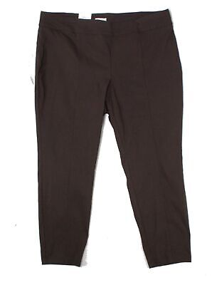Style & Co. Women's Brown Size 22W Plus Skinny Pull On Pants Stretch $32 #023