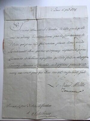 manuscrit autographe, ordre du temple, chevalier de Malte,Catane,Catholicisme,