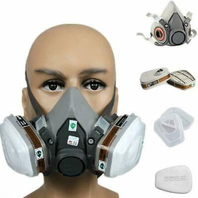 US Half Face Shield Facepiece F 3M 6200 Gas Painting Spray Protection Respirator