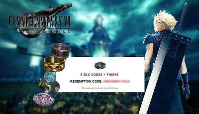 Final Fantasy 7 Remake ALL 5 DLC CODES + TIFA THEME Butterfinger INSTANT DELIVER