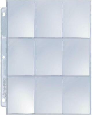 Ultra Pro 9-Pocket Silver Series Page Protector for Standard Size Cards -25Count