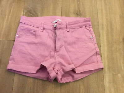 H&M Girls Pink Shorts Age 13-14years.