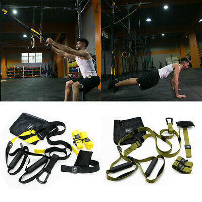 Home Gym Suspension Resistance Strength Straps Fitness Workout Exercise Trainer