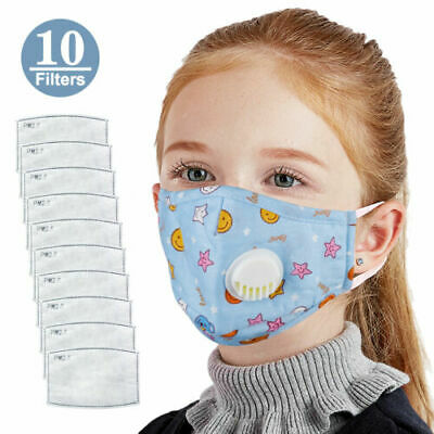 10/20/100 PCS PM2.5 Filter Activated Carbon Filters For Kids Reusable