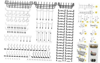 "100PC 1//8/"" Heavy Duty Peg Board Organizer Assortment Set"