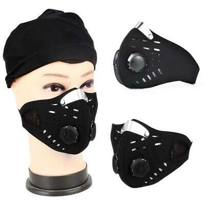 Outdoor Dust Mesh Face Breathable Filtration Exhaust Gas for Running Cycling AU
