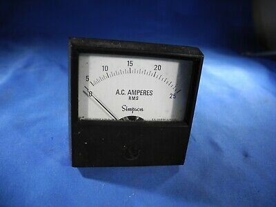 Simpson  2152 Ac Ampere Rms Meter  0-25 Ac Amps