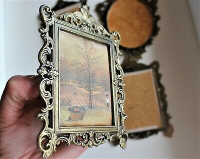 Set of Four Vintage Pictures Frame Art Deco Wall Photo frame Adjustable Picture